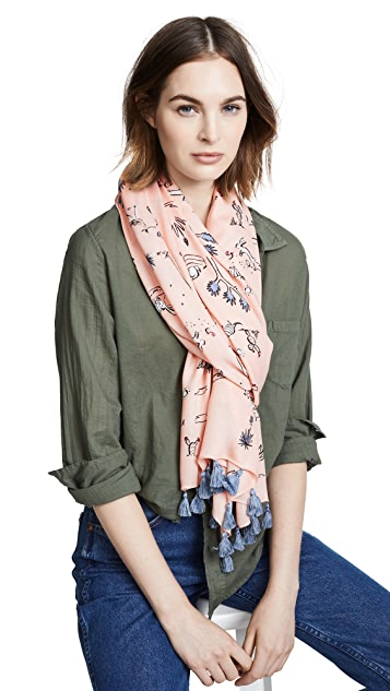 Kate Spade New York Joshua Tree Toile Oblong Scarf