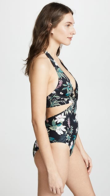 Kate Spade New York Playa Carmen Knotted Halter One Piece