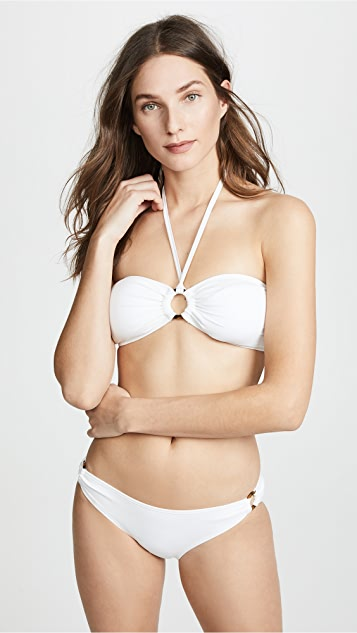 Kate Spade New York Palominos Islands Bandeau Halter Bikini Top