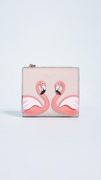 Kate Spade New York By the Pool Flamingo Adalyn Wallet