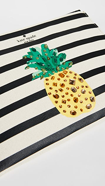 Kate Spade New York By The Pool Pineapple Medium Bella Pouch