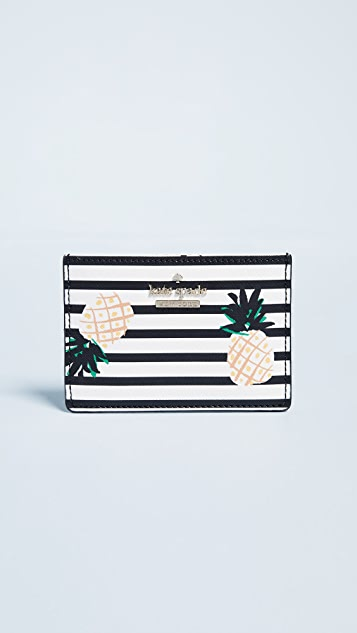 Kate Spade New York Cameron Street Pineapples Card Holder