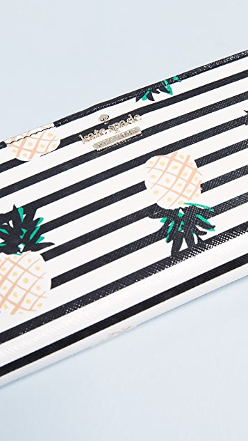 Kate Spade New York Cameron Street Pineapples Stacy Wallet