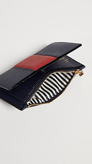 Kate Spade New York Cameron Street Mikey Wallet with Racing Stripe