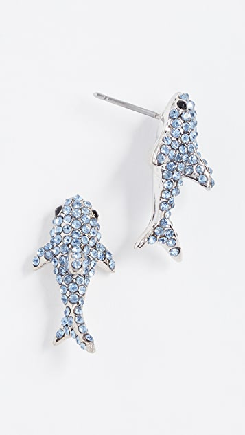 Kate Spade New York California Dreaming Pave Shark Studs Earrings