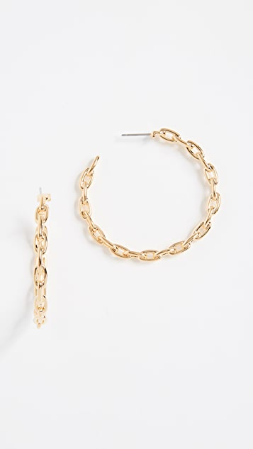 Kate Spade New York Chain Reaction Link Hoops Earrings