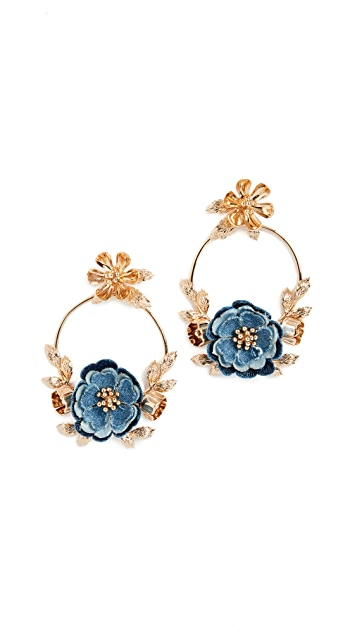 Kate Spade New York Flower Child Door Knocker Earrings
