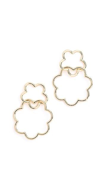 Kate Spade New York Scrunched Scallops Drop Earrings