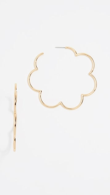 Kate Spade New York Scrunched Scallops Large Hoops Earrings