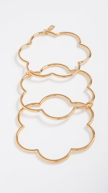 Kate Spade New York Scrunched Scallops Stackable Bangles Bracelet Set