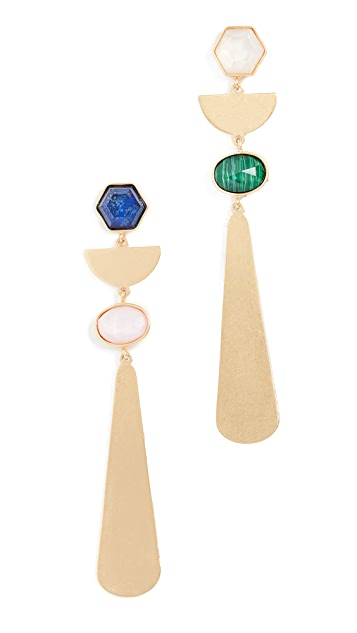 Kate Spade New York Sunshine Stones Linear Earrings