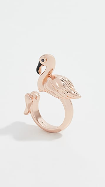 Kate Spade New York By The Pool Flamingo Ring