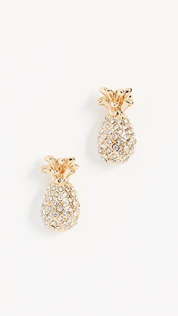 Kate Spade New York By The Pool Pineapple Mini Studs