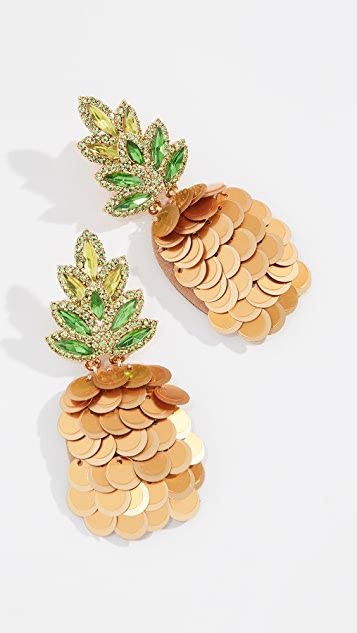 Kate Spade New York By The Pool Pineapple Statement Studs