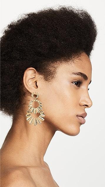 Kate Spade New York Scrunched Scallops Triple Drop Earrings