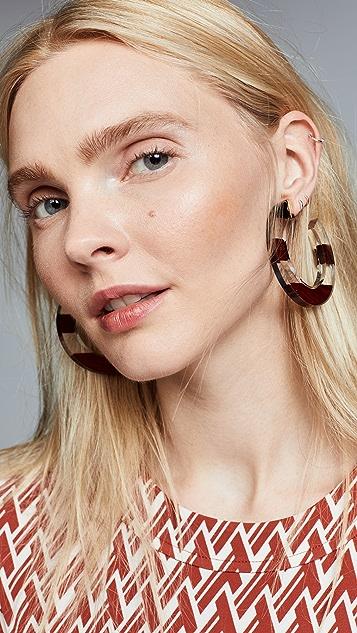 Kate Spade New York Slice Of Stone Hoops Earrings