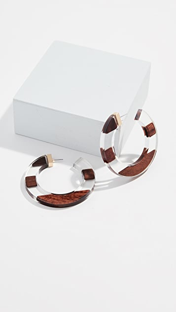 Kate Spade New York Slice Of Stone Hoops Earrings