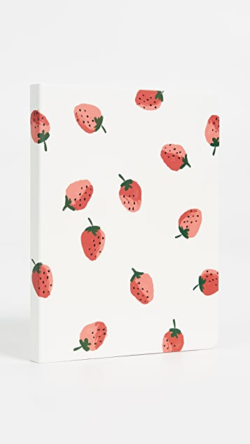 Kate Spade New York Strawberries Concealed Spiral Notebook - Red/Green/White