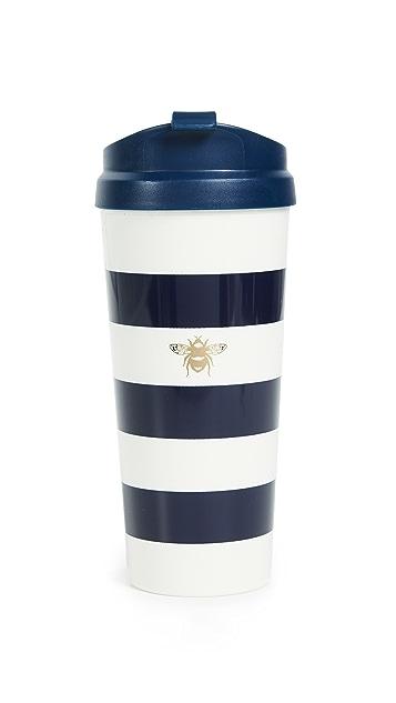 Kate Spade New York Navy Stripe Thermal Mug