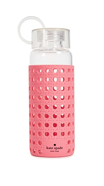 Kate Spade New York Coral Glass Water Bottle