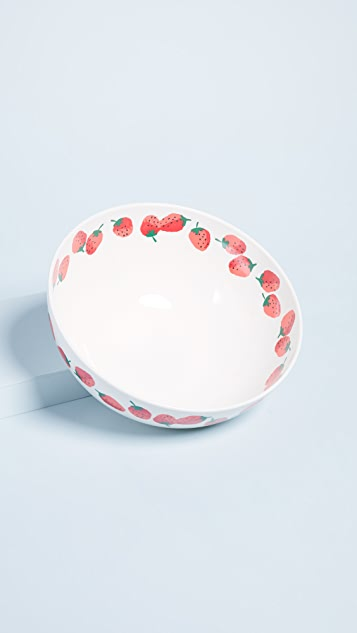 Kate Spade New York Strawberries Serving Bowl