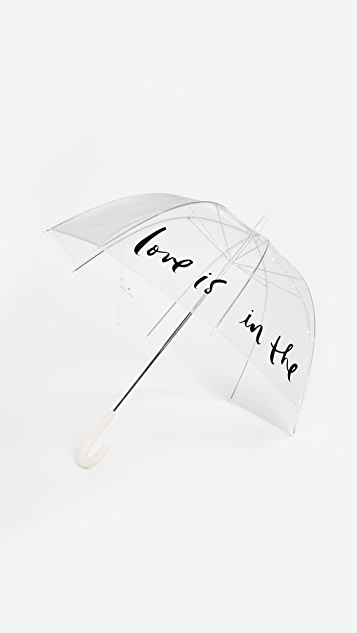 Kate Spade New York Love Is in the Air Clear Umbrella