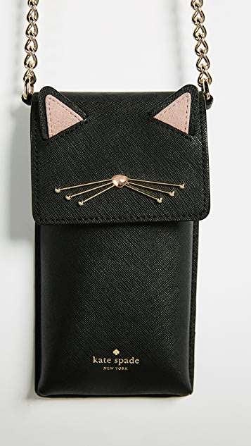 Kate Spade New York Cat North South Phone Cross Body Case