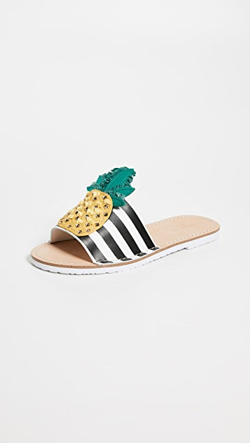 Kate Spade New York Icarus Pineapple Slides
