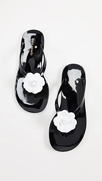 Kate Spade New York Fiorina Floral Jelly Flip Flops