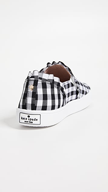Kate Spade New York Lilly Gingham Sneakers