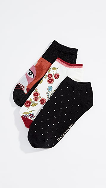 Kate Spade New York Fox No Show Sock 3 Pack