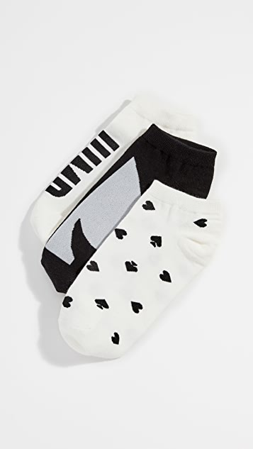 Kate Spade New York Three Pack Jump for Joy Socks