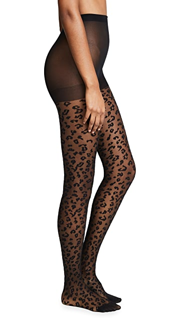 Kate Spade New York Leopard Sheer Tights