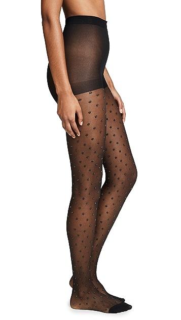 Kate Spade New York Shiny Dot Sheer Tights