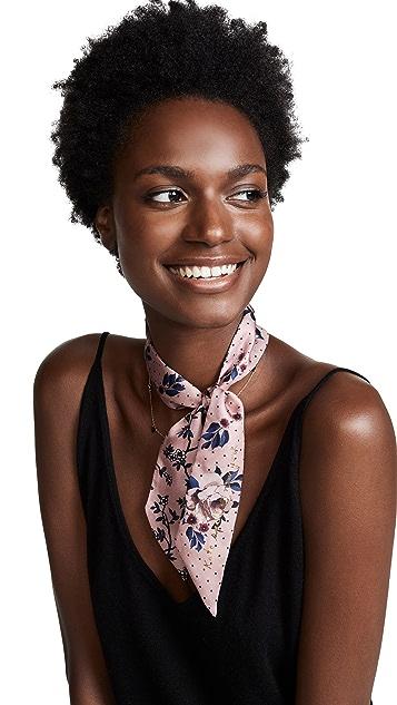 Kate Spade New York Prairie Rose Silk Skinny Scarf