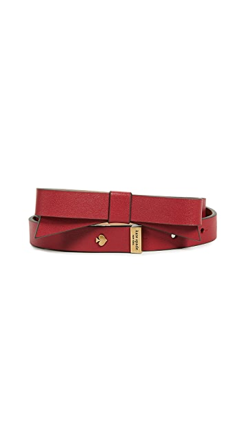 Kate Spade New York Smooth Bow Belt
