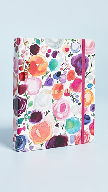 Kate Spade New York Floral Large August to August Agenda Planner