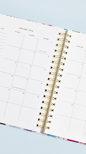 Kate Spade New York Большой ежедневник с цветочным рисунком с августа 2018г. по август 2019г.