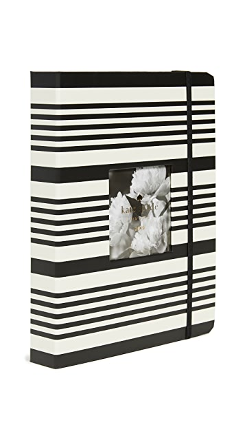 Kate Spade New York Black Stripe Large Full Year Agenda