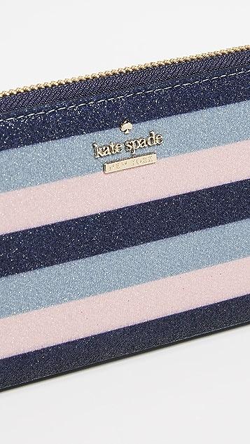 Kate Spade New York Owen Lane Multi Stripe Glitter Lindsey Wallet