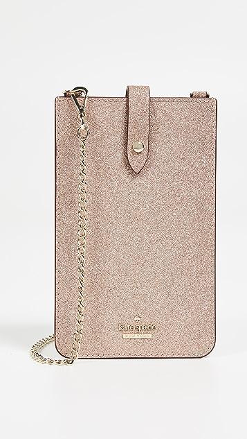 premium selection 9763f 7a468 Glitter Phone Sleeve Crossbody Bag