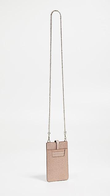 Kate Spade New York Glitter Phone Sleeve Crossbody Bag