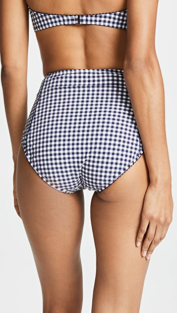 Kate Spade New York Crosby Landing High Waist Bikini Bottoms