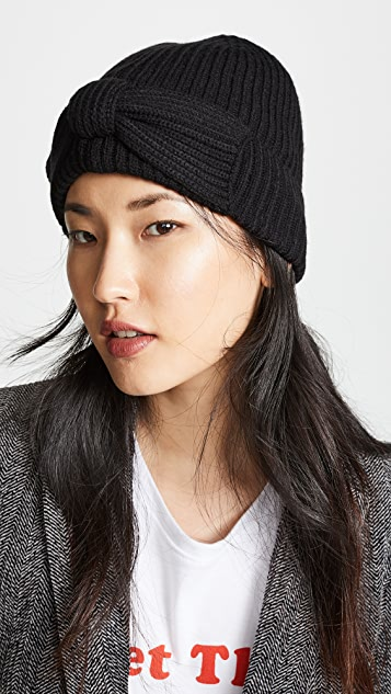 64ba1aa2f3115 Kate Spade New York Solid Bow Beanie Hat ...
