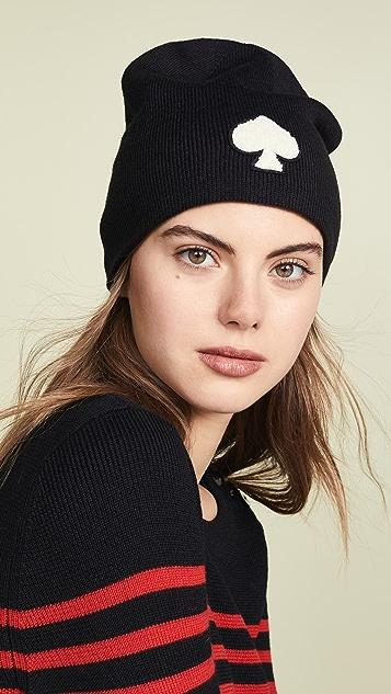 Kate Spade New York Spade Beanie Hat  3dac5748a31