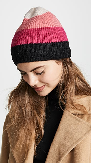 db91e2af602 Kate Spade New York Brushed Colorblock Beanie Hat