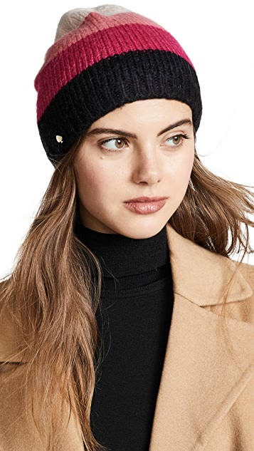 Kate Spade New York Brushed Colorblock Beanie Hat