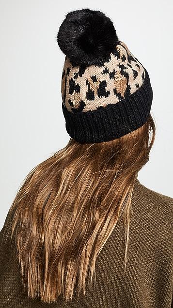 ... Kate Spade New York Leopard Beanie Hat ... 2adf7086d48