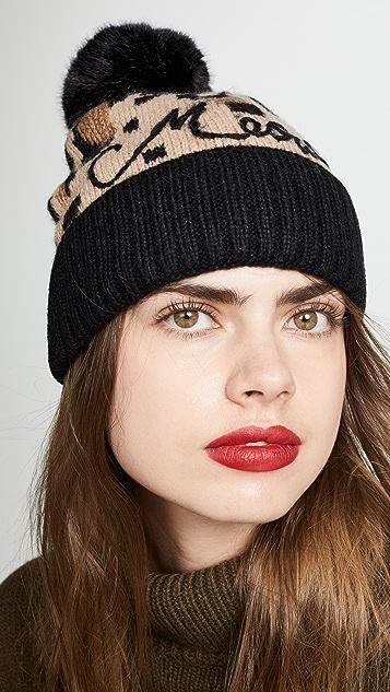 Kate Spade New York Leopard Beanie Hat