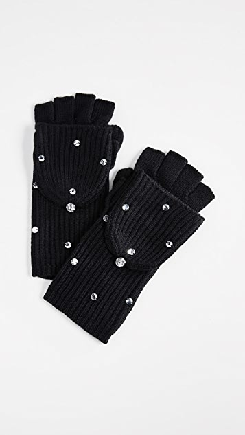 Kate Spade New York Bedazzled Pop Top Gloves